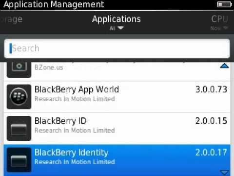 Delete BBM on OS6