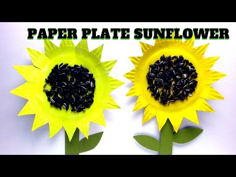 How to Make a Paper Plate Sunflower | Mothers Day Craft