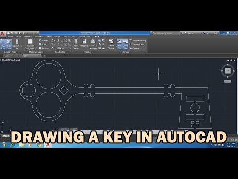 How to draw a Key in AutoCAD: Good and easy drawing practice exercise