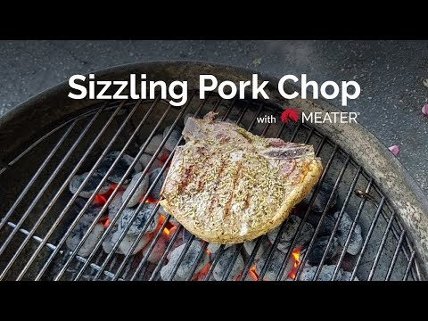 Juicy Reverse Sear Pork Chop with a Wireless Meat Thermometer