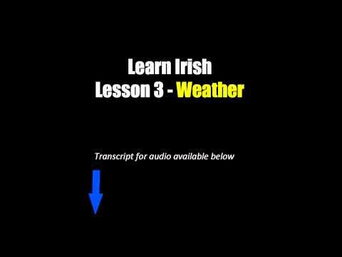 Learn Irish - Lesson 3 (Weather)