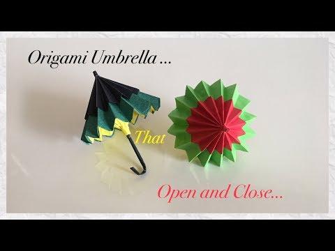 Origami Umbrella That Open and Close / DIY / Paper Umbrella ( step by step)🌂   Priti Sharma