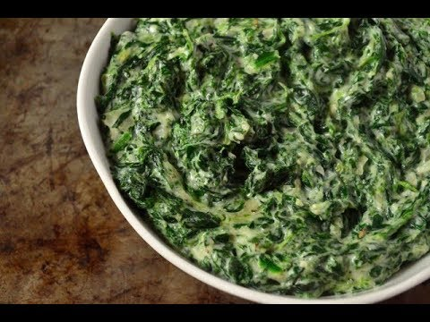 How to Make Creamed Spinach - Steakhouse Style Recipe