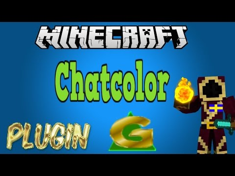 Chatcolor (Minecraft Plugin Tutorial) Upgrade your chat with colors!