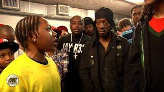 14 year old rapper battles 16 yr old MC