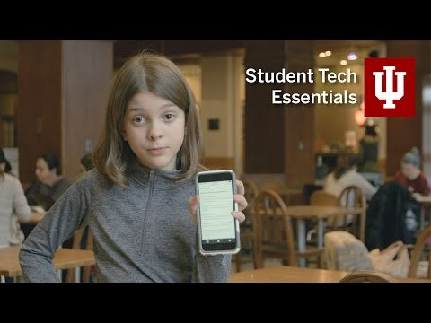 Student tech essentials at Indiana University