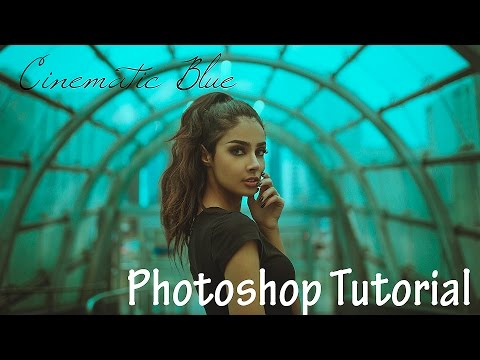 Easy Cinematic Moody Photoshop Tutorial, Blue Hue with Gradient Maps