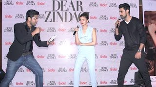 Rapid Fire With Alia Bhatt & Kunal Kapoor During Dear Zindagi Tu Hi Hai Song launch