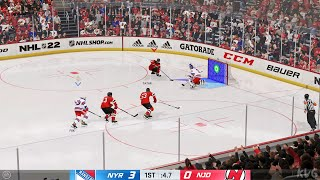 NHL 22 - New York Rangers vs New Jersey Devils - Gameplay (PS5 UHD) [4K60FPS]