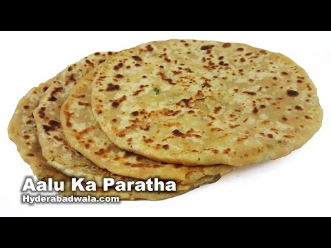 Aalu Ka Paratha Recipe Video - How to Make Potato Stuffed Bread - Easy & Simple Hyderabadi Cooking