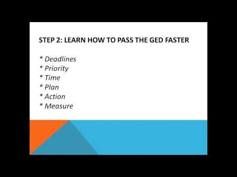 Pass The GED Fast The 5 Steps You Need To Take