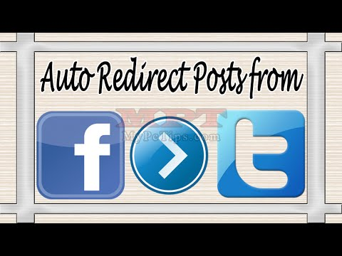 Auto Redirect Facebook Posts to Twitter