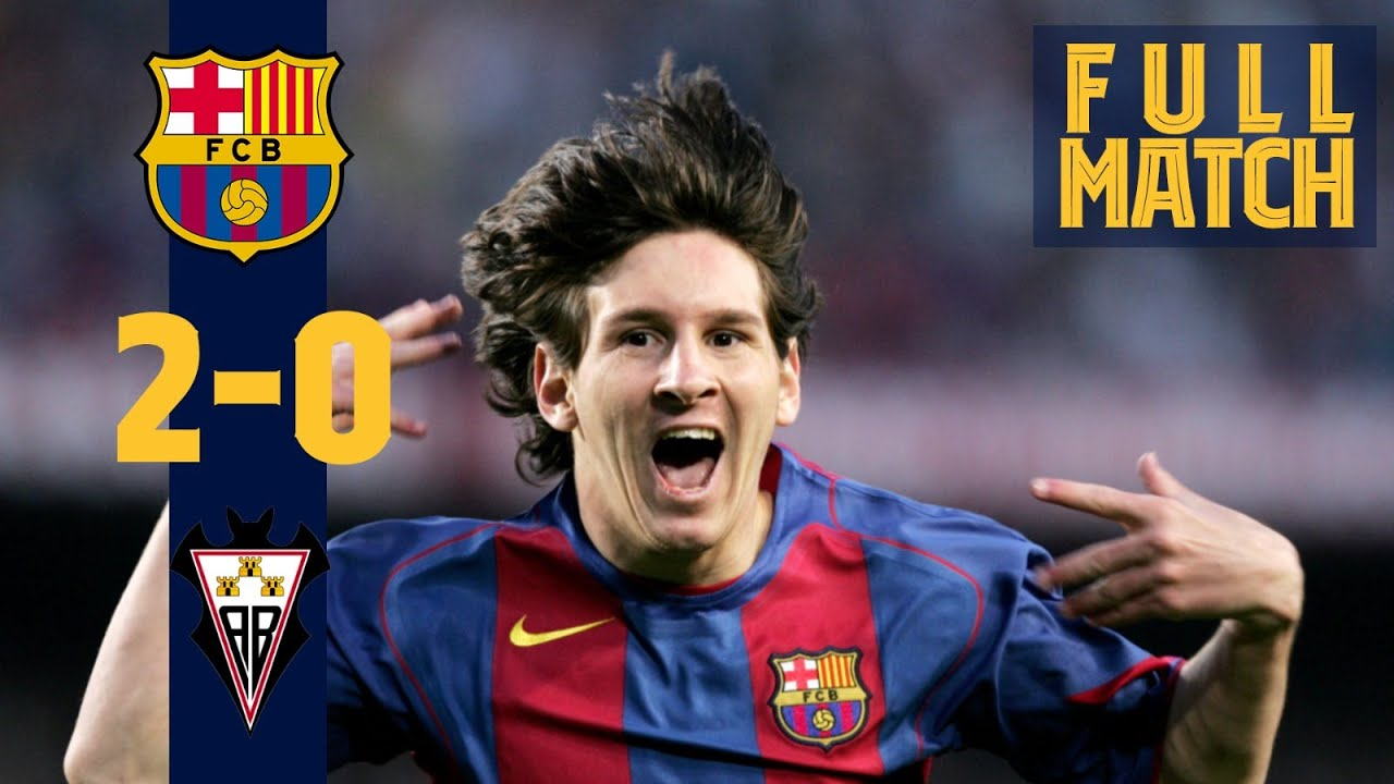 FULL MATCH: THE DAY MESSI SCORED HIS FIRST GOAL (BARÇA-ALBACETE 2005)