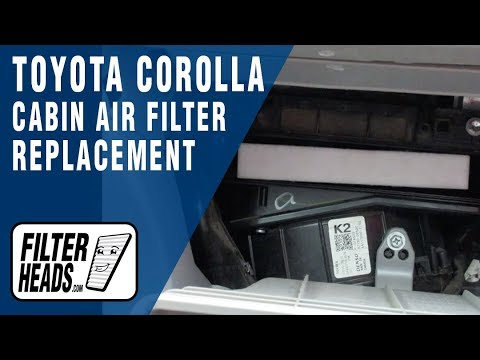 How to Replace Cabin Air Filter 2012 Toyota Corolla