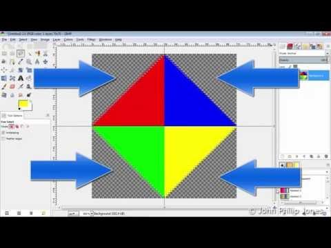 GIMP 2.8 How to make a Transparent ICON