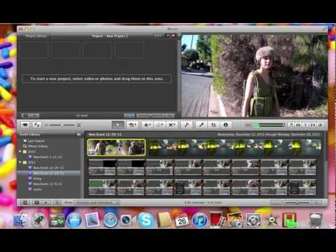 Deleting clips from iMovie 11'