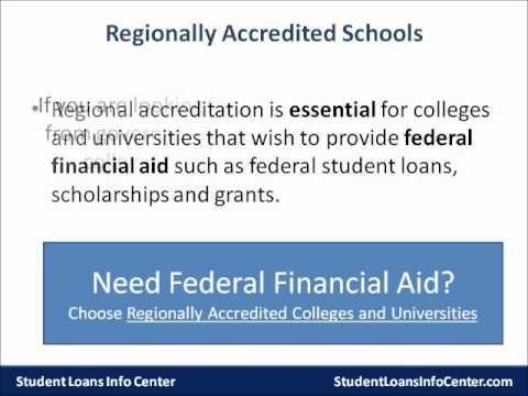 Choosing an online college - Regional vs. National Accreditation
