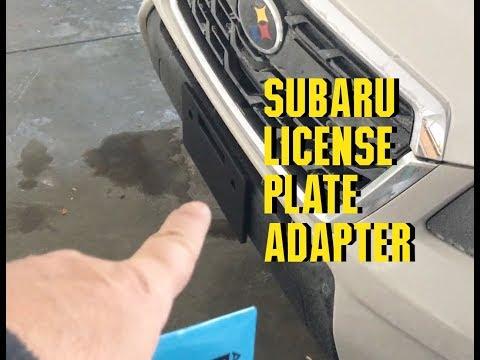 Subaru Forester XT 2018 License Plate Adapter Followup