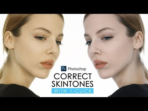 Correct Skin Tone with One Click in Photoshop - Color Correction with Eyedropper Tutorial