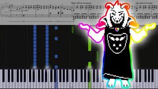 Undertale // Asgore | LyricWulf Piano Tutorial on Synthesia
