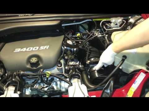 1998 Pontiac Trans Sport Montana 3400 Replace Air Filter Clean Air Sensor