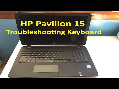 HP Pavilion 15 Series - Keyboard Troubleshooting