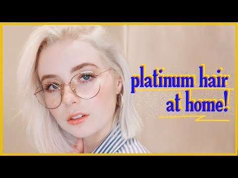 How To Get Icy Platinum Blonde Hair at Home! / Kel Lauren (2018 Version)