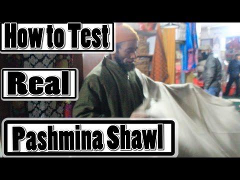 How to test original Pashmina Shawl (Easy Trick to test real pashmina shawl)
