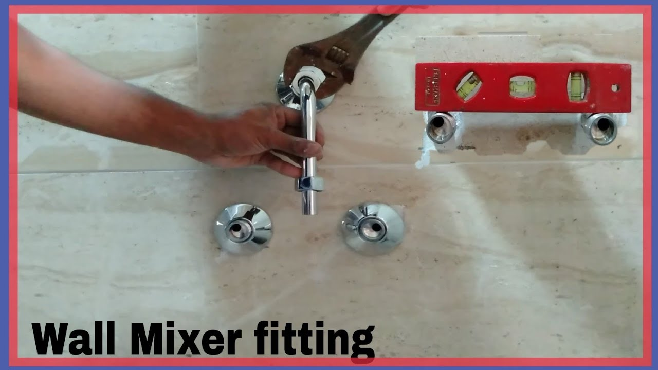Wall Mixer fitting l 3 in 1 system Wall mixer installation