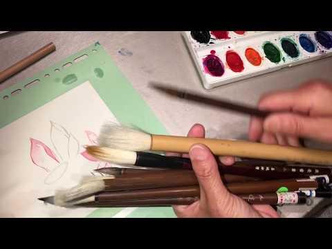 Brush talk - Chinese painting calligraphy explained asmr