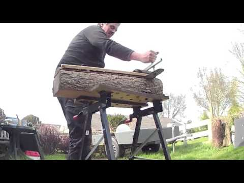 Chain Saw Board Cutting