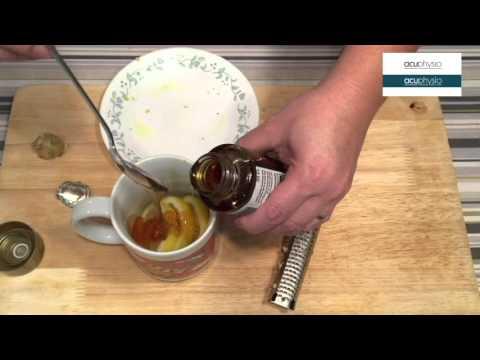 Home remedy of honey lemon ginger tea for nausea and dizziness