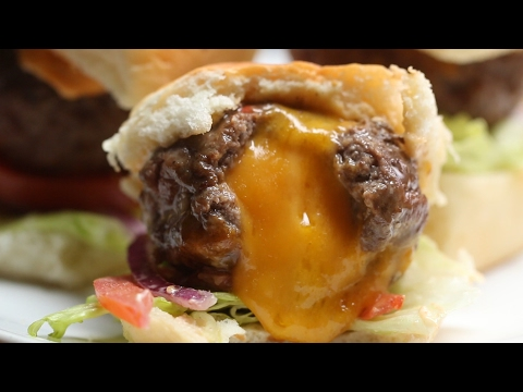 Cheese-Stuffed Burger Bombs
