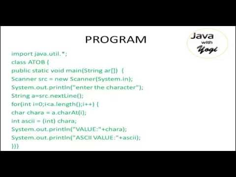Converting String to ASCII in java