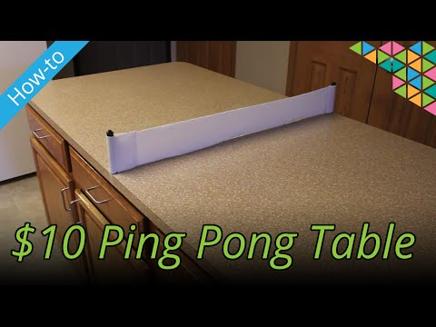 How to make a ping pong table for $10