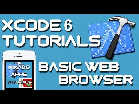XCODE 6 TUTORIAL - HOW TO CREATE A BASIC WEB BROWSER IN XCODE 6 (UIWebView) - MIKADO APPS TUTORIALS