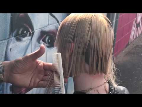 How to cut a short bob with fringe