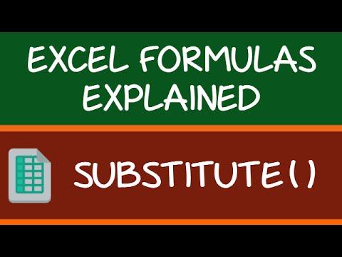 SUBSTITUTE Formula in Excel