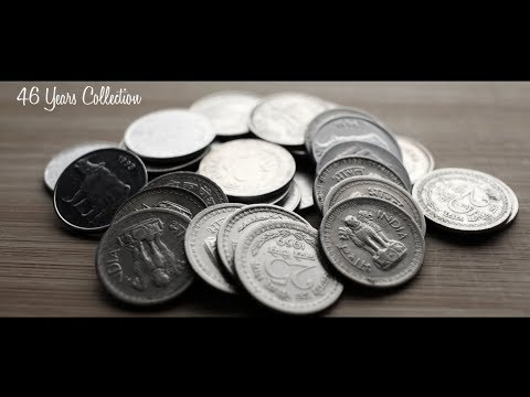 25 PAISE 46 Years MEGA coin collections in Series | INDIA