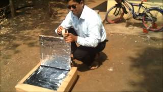 SURYA 12 A Home Made Solar Cooker in Just Rs.50.rv