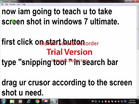 HOW TO TAKE SCREENSHOT IN WINDOWS 7 ultimate