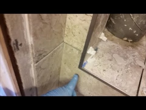 Install Tile Edge Trims On A Shower Outside Corners -  Wall and Curb - Step By Step