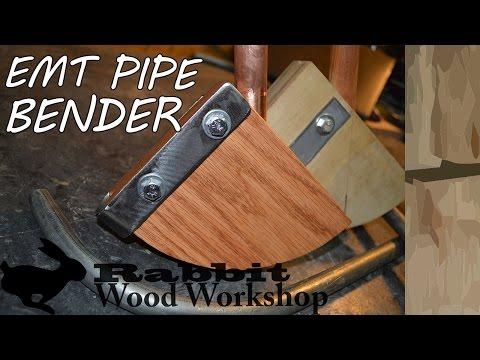 Make a wood pipe bender for emt conduit