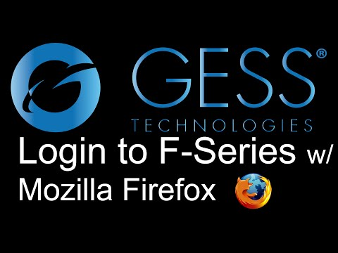 How to Access GESS F-Series Products with Firefox
