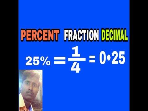 Convert Percent to decimal in hindi