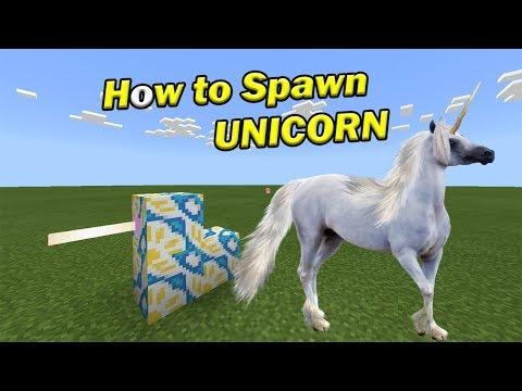 How to Spawn a UNICORN | Minecraft PE