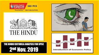 'The Hindu' Analysis for 2nd Nov, 2019 (Current Affairs for UPSC/IAS)