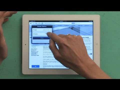 Step-by-Step for How to Print Documents From the iPad : iPad Tips
