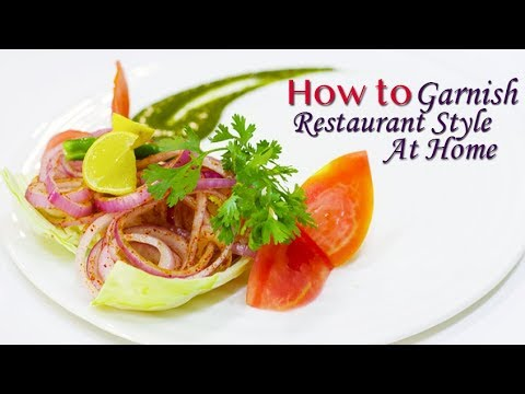 How to Garnish Restaurant Style at Home | Chef Harpal singh