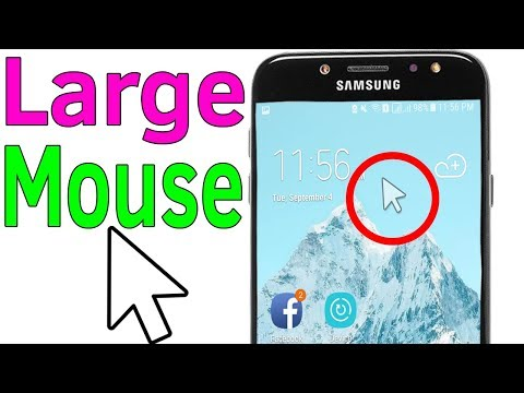 Mouse icon : How To Enable or Disable Large Mouse On Samsung J7/S7/S8/S9/N8/N9 - Helping Mind